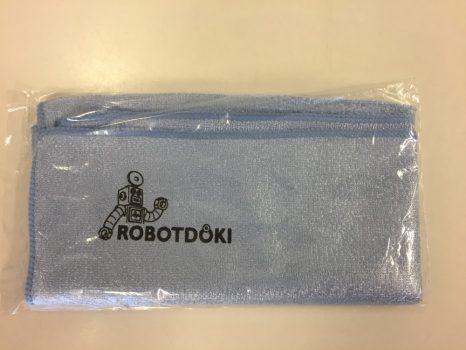 Mikroszálas törlőkendő-Robotdoki emblémával