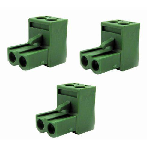 Határoló kábel csatlakozó zöld 10db/csomag